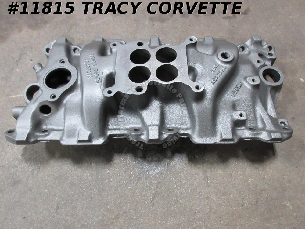 1964 Corvette Chevy 3844457 SBC WCFB Cast Iron Intake Manifold with Date Choice