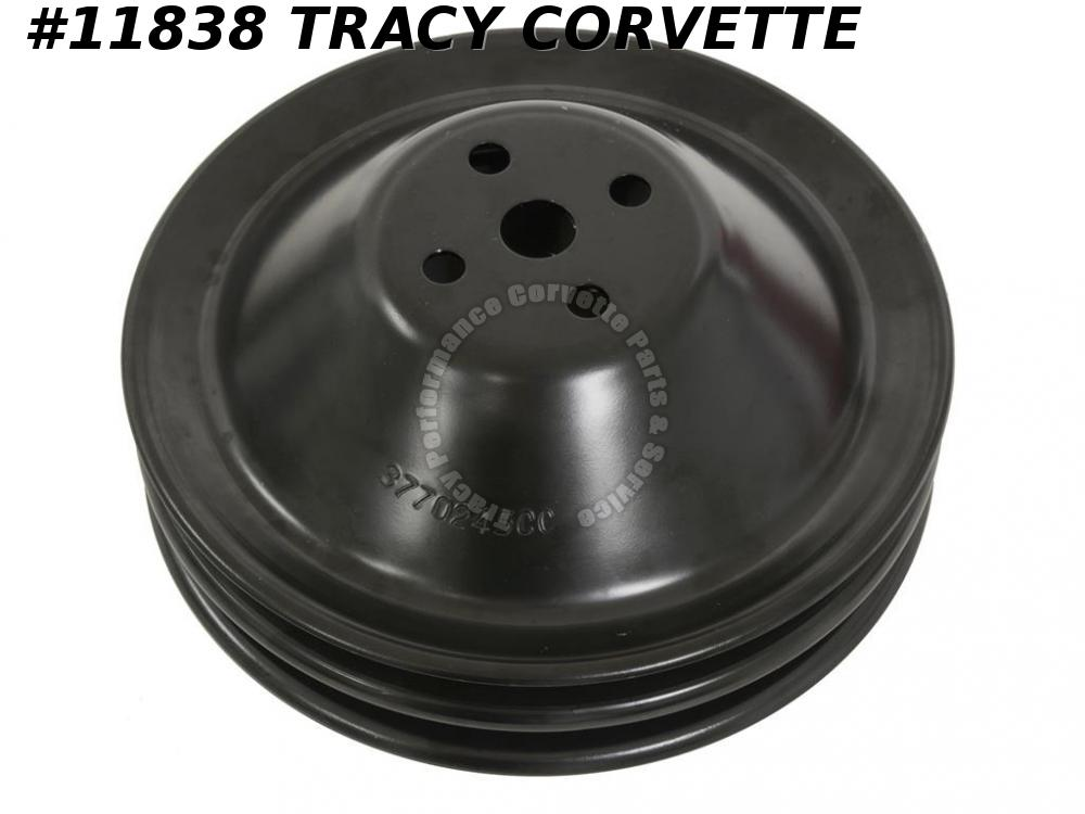 1962-1968 Corvette New Repro 3770245 Fan/Water Pump Deep Double Groove Pulley