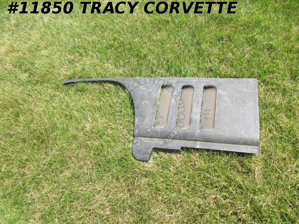 1965-1966 Corvette Lower Fender Louver Panel LH Black fiberGlass NOS GM#3857525