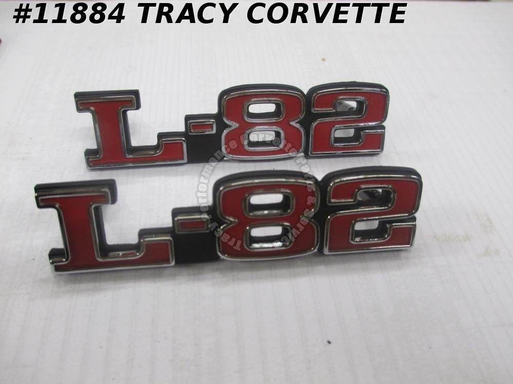 1975-1979 Corvette Hood Emblem /Pair GM# 372370 Made in USA C3 1976 1977 1978