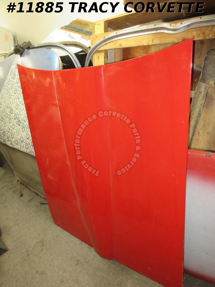 1965 Corvette Hood GM#3857463 Small Block 1966 1967 Fiberglass Repaired Back RED