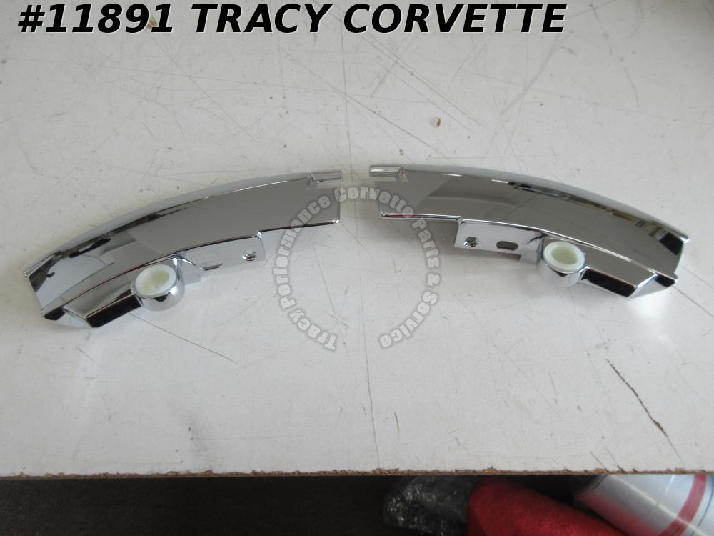 1969-1976 Corvette New Repro 3966601/3966602 Windshield Corner Moldings/Pr 69-76