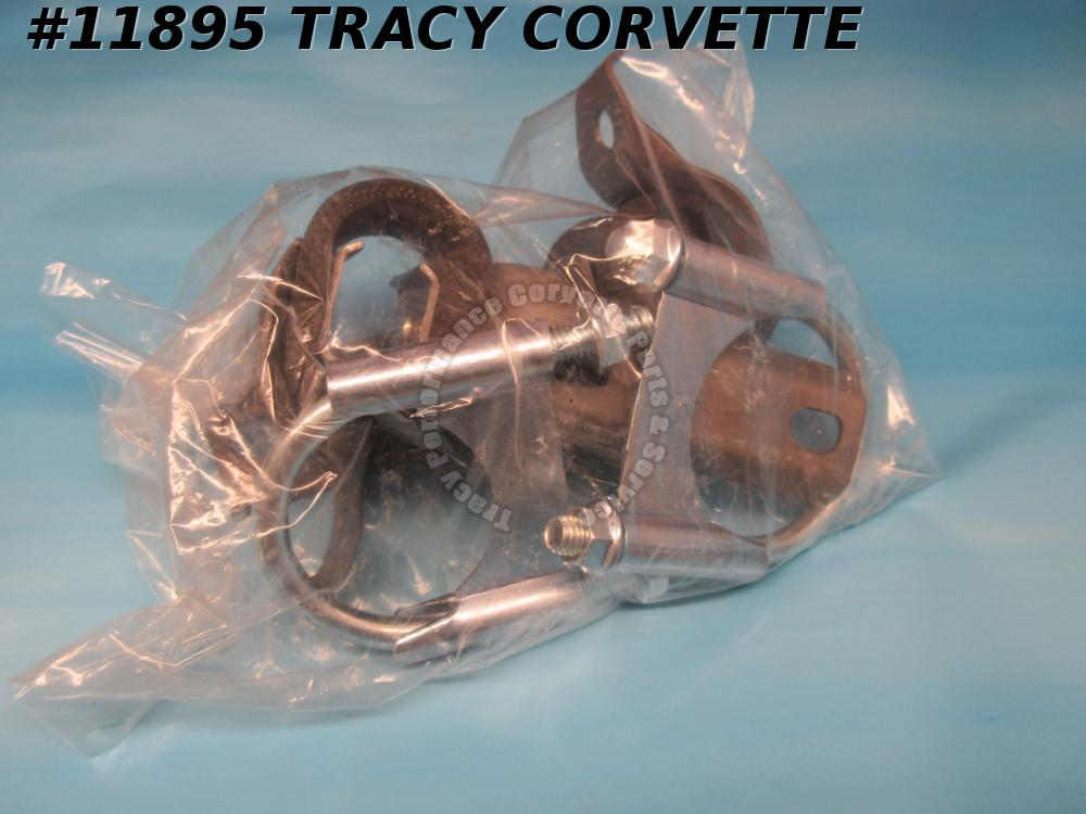 1975-1977 Corvette Rear Exhaust Hangers GM# 339712 Muffler Tailpipe Strap - Pair