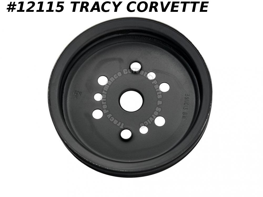 1968L-74 Corvette Reproduction 3911013BW 2 Groove Lwr Crankshaft Pulley 350 w/AC