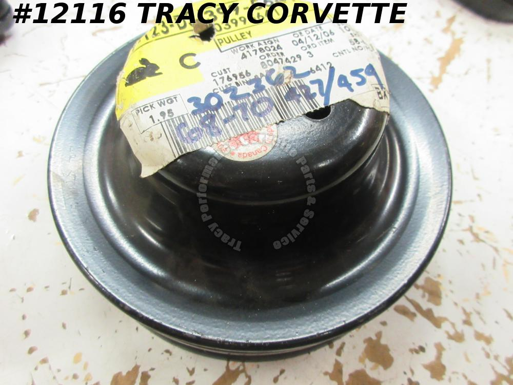 1966-1970 Corvette NOS 3995641 Water Pump Fan Double Groove Pulley 66 1967 68 69