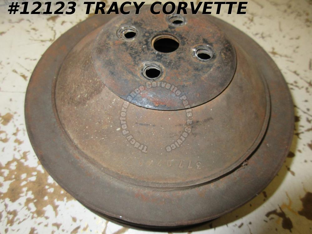 1962-68 Corvette Used Original 3770245 Water Pump Pulley w/Spacer Survivor Ready