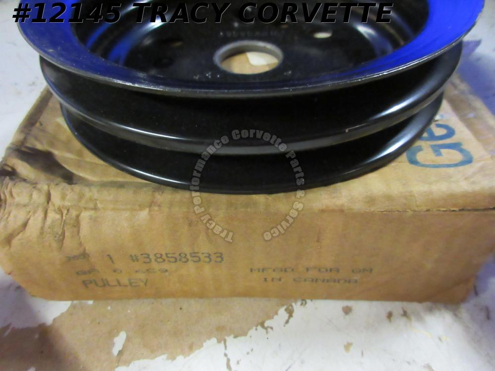1962-1980 Corvette 2-Groove Crankshaft Pulley GM# 3858533 BJ 3766987 327/350 SHP