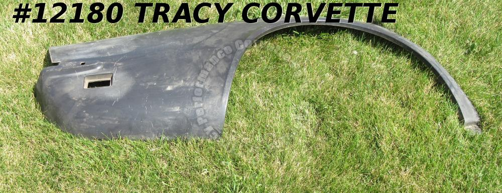 1968-1969 Corvette NOS 3936380 Black Glass Right Hand Die Mld Rear Quarter Panel