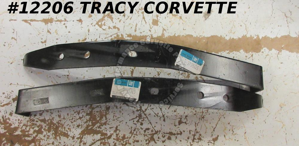 1958-1962 Corvette Bumper Bracket Front PAIR GM# 3739325 3739326   C1    NOS