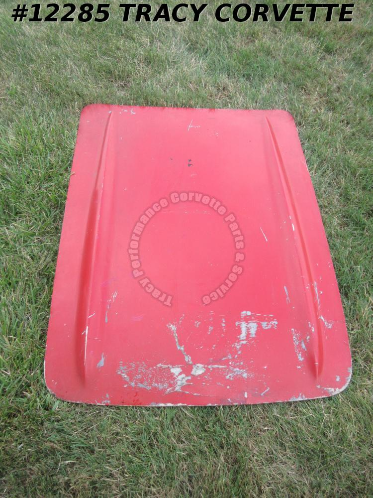 1961-1962 Corvette Hood Fiberglass  GM# 3786968  Red