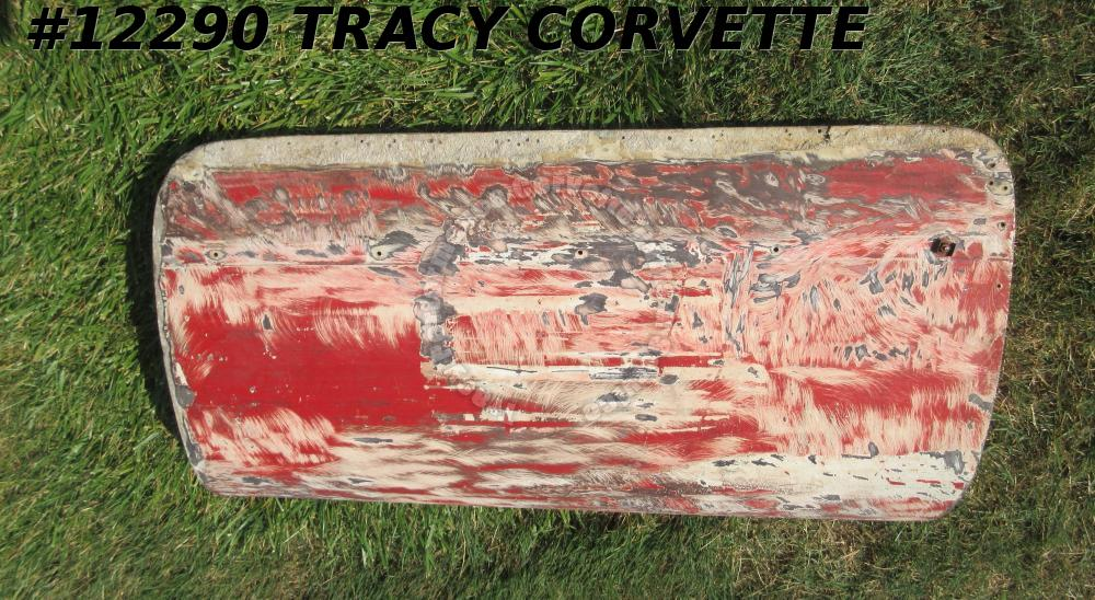 1953-1955 Corvette LH Door Shell - RED BARE Used Original