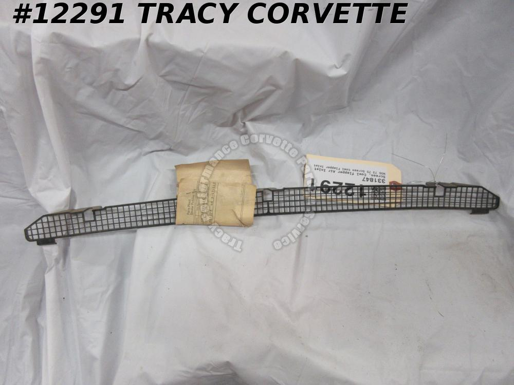 1973 1974 1975 Corvette Cowl Air Inlet Flapper Screen NOS GM Original 331847