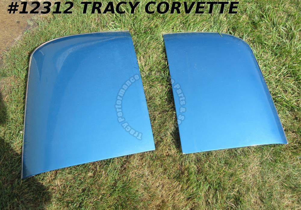1968-1976 Corvette T-Tops Original Fiberglass Clean Blue