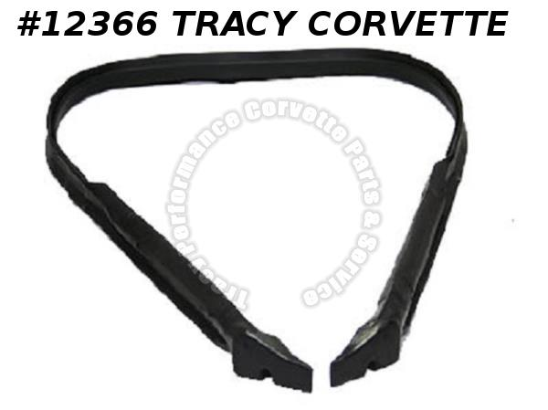1984-1996 Corvette Rear Roof Pillar and B-Pillar Latex Weatherstrip OEM Material