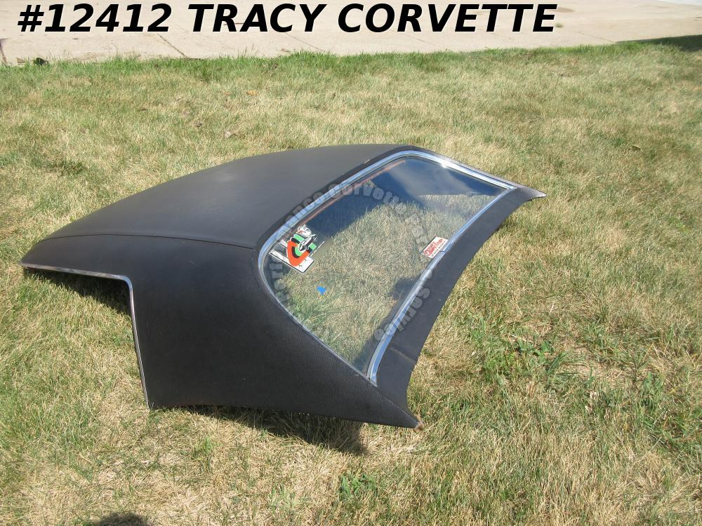 1968-1975 Corvette Used Black Vinyl Hardtop, needs Headliner & Latches 68-75