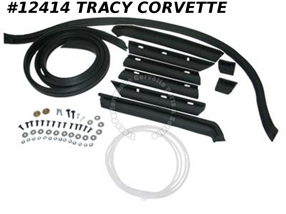 1968-1975 Corvette Convertible Top 10-pc Weatherstrip Kit   ***InStock***