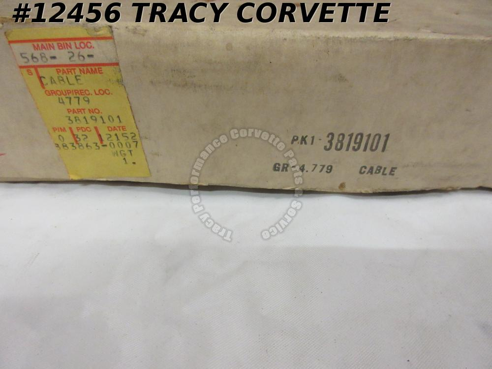 1963 Corvette NOS 3819101 Left Rear Parking Brake Cable Asy