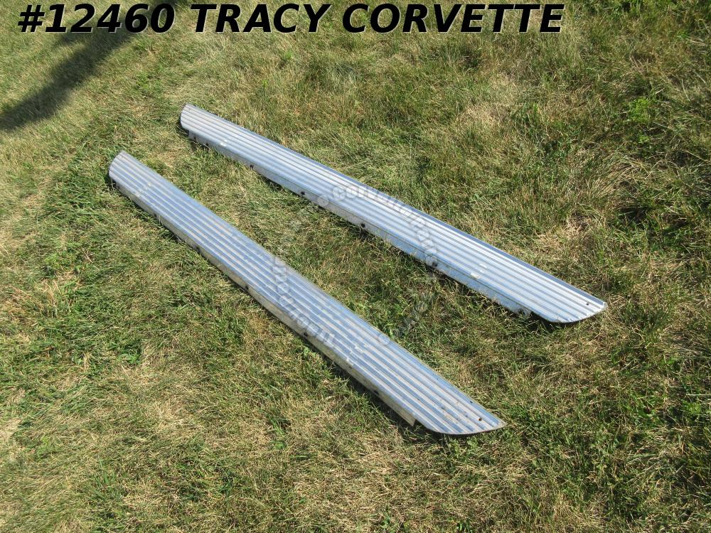 1962 Corvette Rocker Panel Moldings GM# 3820541 3820542 Used Originals for Pair