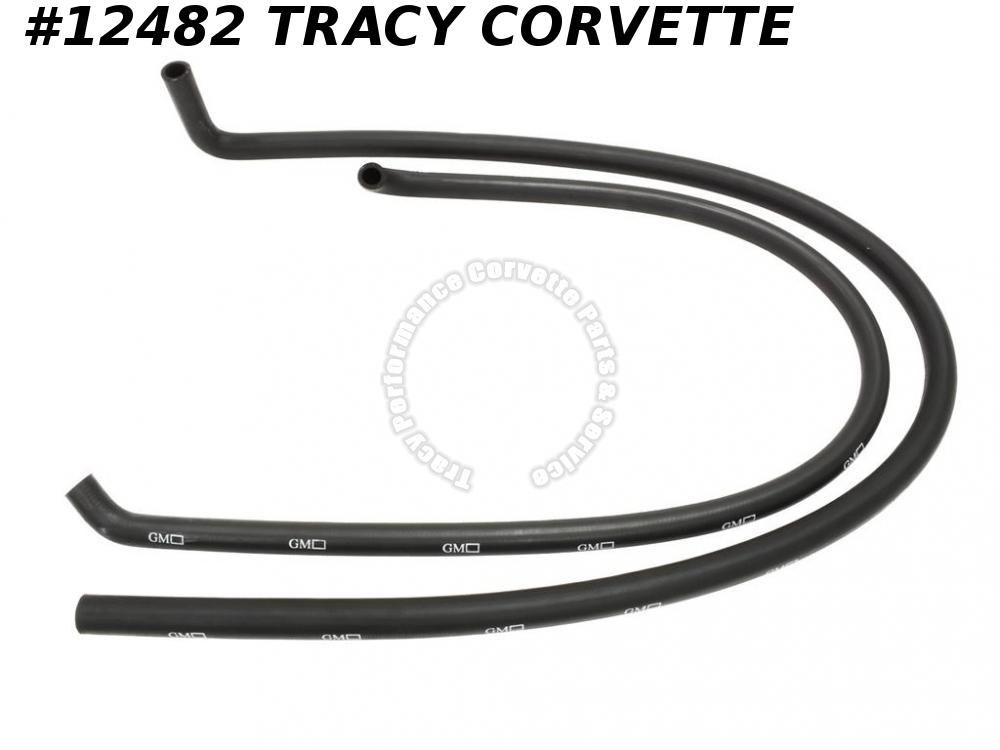 1968-1982 Corvette 327 350CID Heater Hose SET w/ AC GM Logos Ribbing Molded Ends