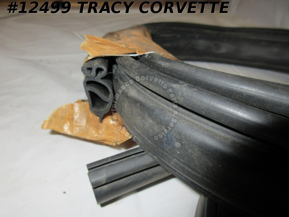 1963-1967 Corvette Convertible Soft Top Rear Bow Weatherstrip Old NOS? 3873761