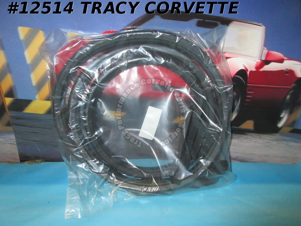 1969-1977 Corvette Coupe Door Main Weatherstrip LH Drivers GM# 3966561