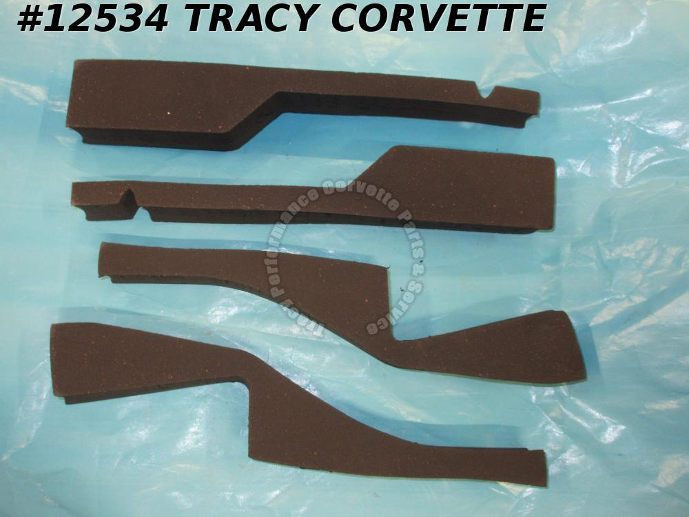 1982 Corvette Radiator Support to Hood Air Dam Seal Kit (4 pieces) ***InStock***