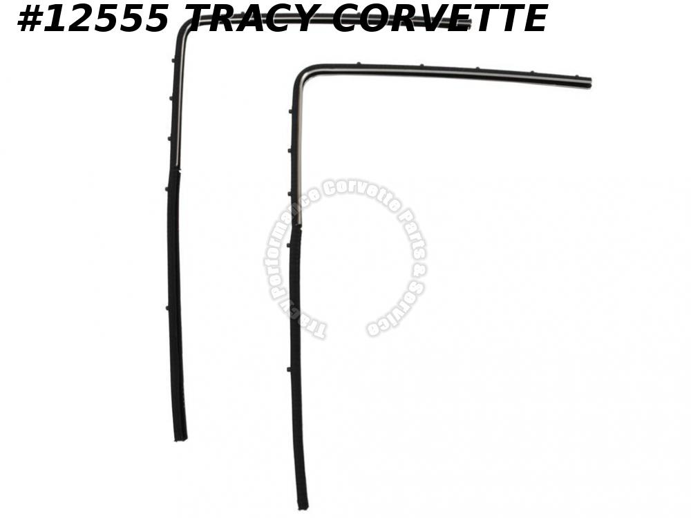 1963-1967 Corvette Window Channel Coupe GM#3888833 Upper & Rear Prebent w/ clips
