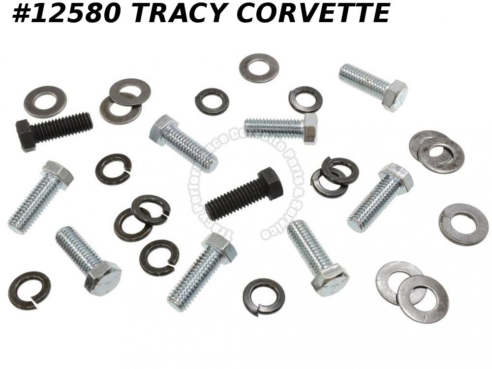 1968-1973 Corvette Rear Bumper Mount Bolt Kit - w/ 'A' Headmark no bracket bolts