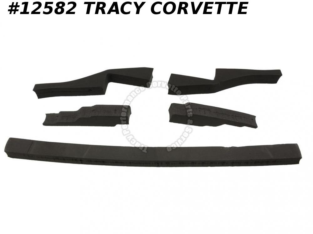 1980-1981 Corvette GM# 14004687 Radiator Air Dam Seal Kit - 5 Pieces