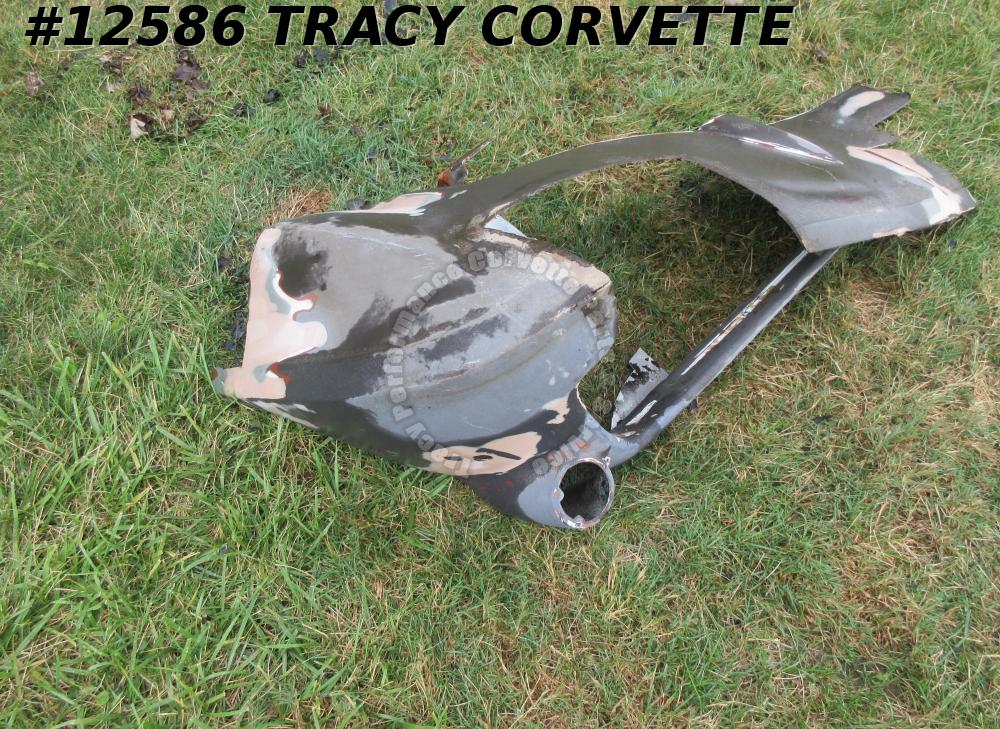 1966-1967 Corvette Parking Lamp Panel fender skirt nose Black Glass 3831930