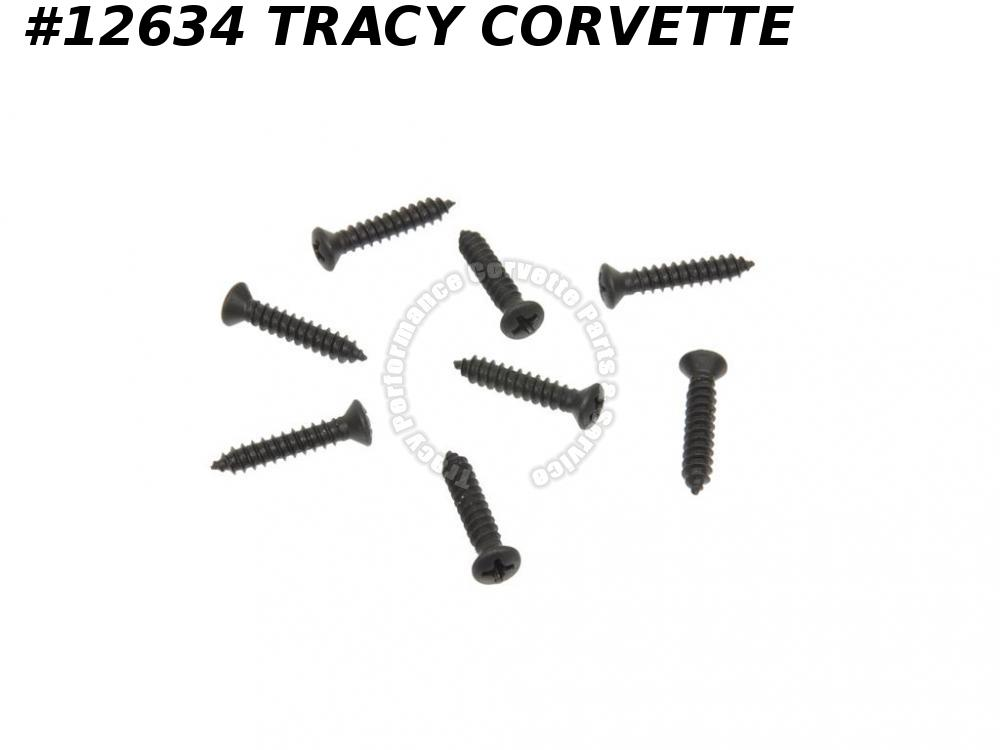 1968-1977 Corvette Door Sill Plate Screw Set 8 pieces 9423258
