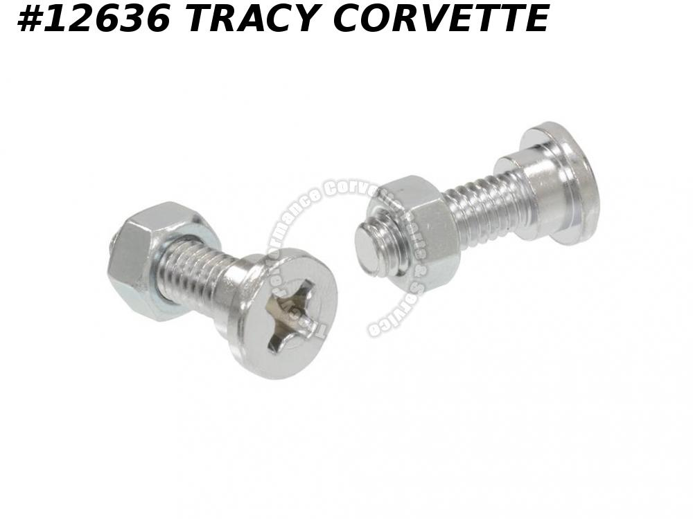 1970-1973 Corvette Seat Back Hinge Pivot Bolt - Late 1970 - Set Of 2 1971 1972