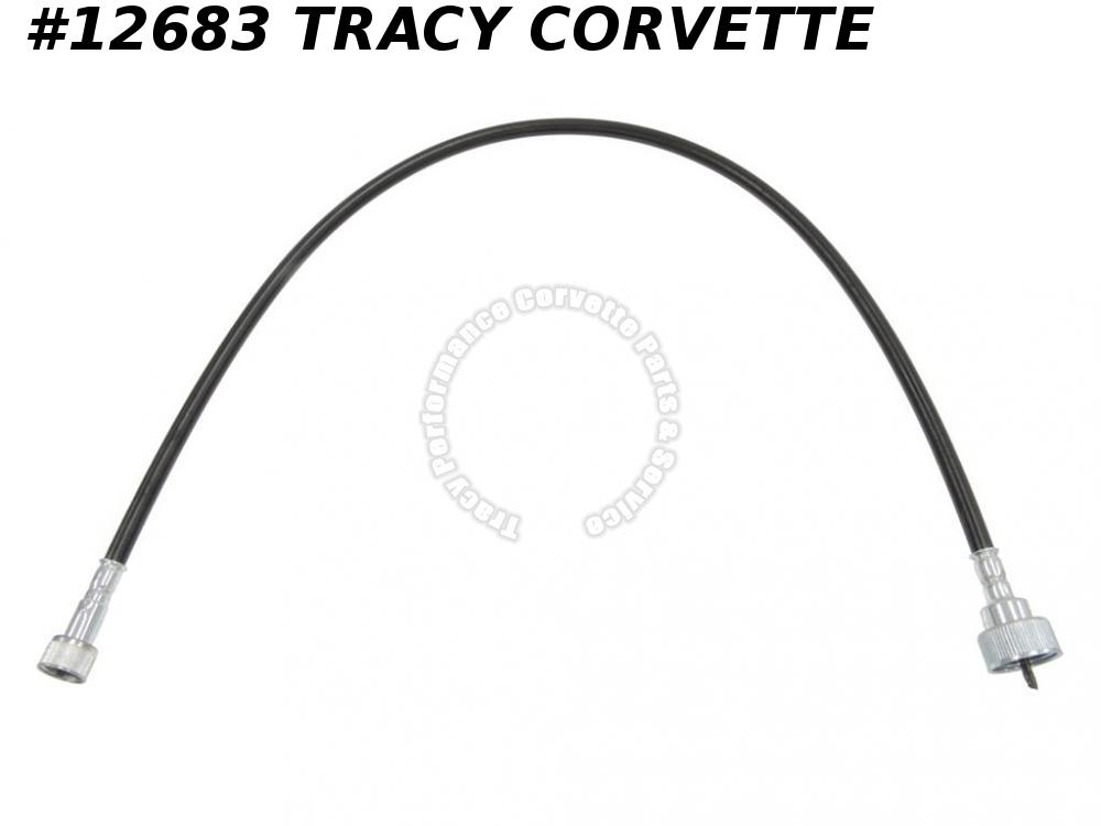 1963-1968 Corvette GM# 3866126 Tachometer Cable - Black Case