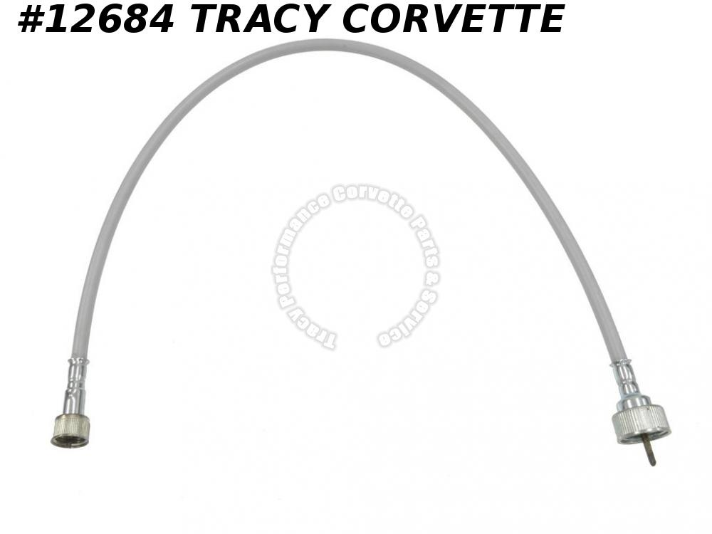 "1963-1964 Corvette Tach/Tachometer Cable-Gray Case 25"" Length Screw-On Both Ends"