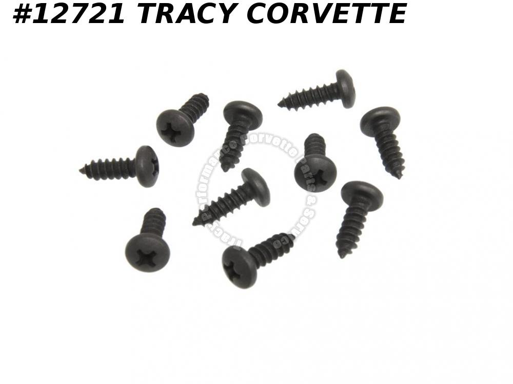 1968-1982 Corvette Door Main Weatherstrip Screw GM# 11501235 - Main - 10 Pieces