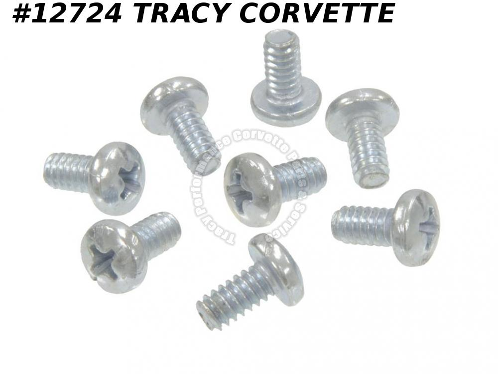 1970-1977 Corvette Top Weatherstrip Screw 9431648 T-top Early 1977 8 Pieces