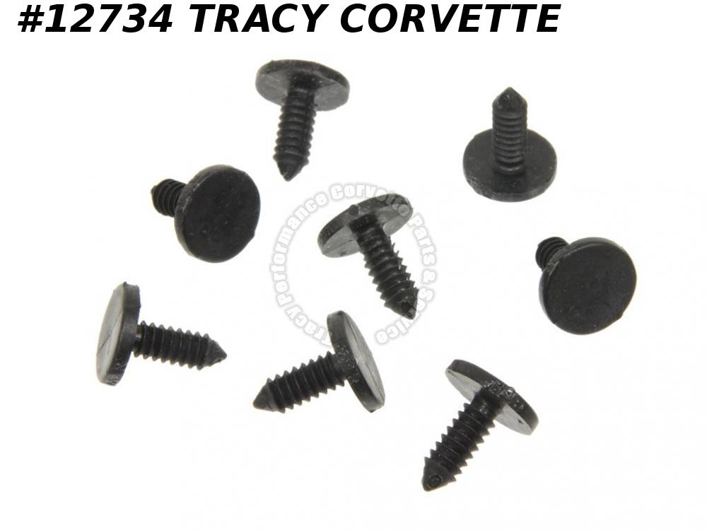 1963-1996 Corvette Weatherstrip Fastener   GM# 8731909   Push In - Set Of 8