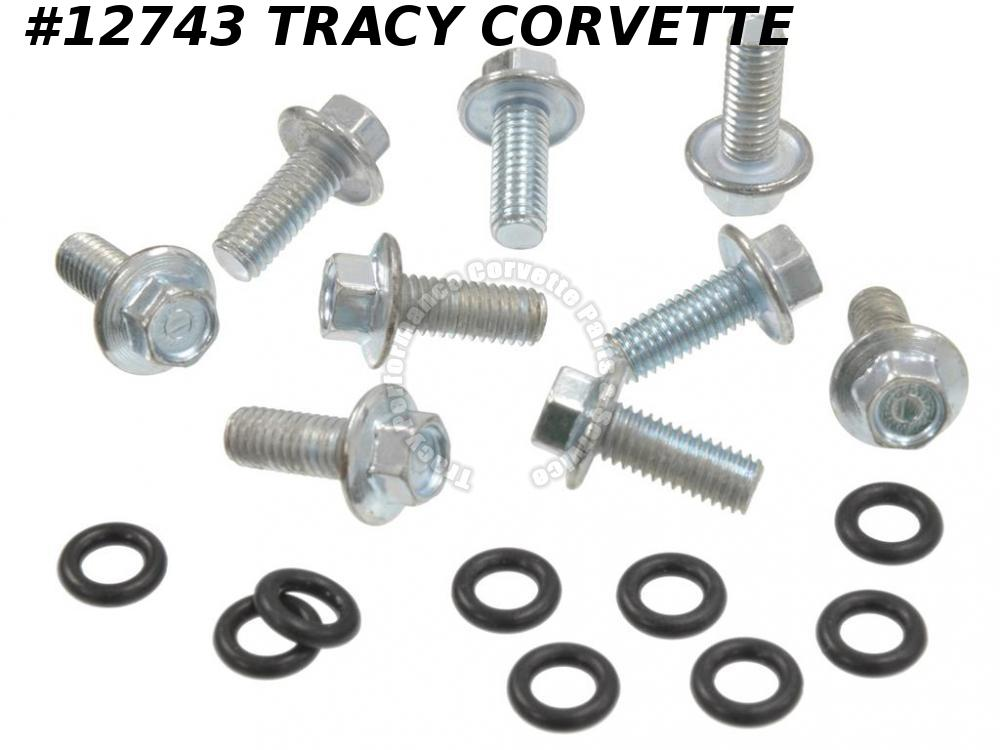 1963-1974 Corvette GM# 3767804 Gas Tank Filler Neck Screw Set - 9 Pieces
