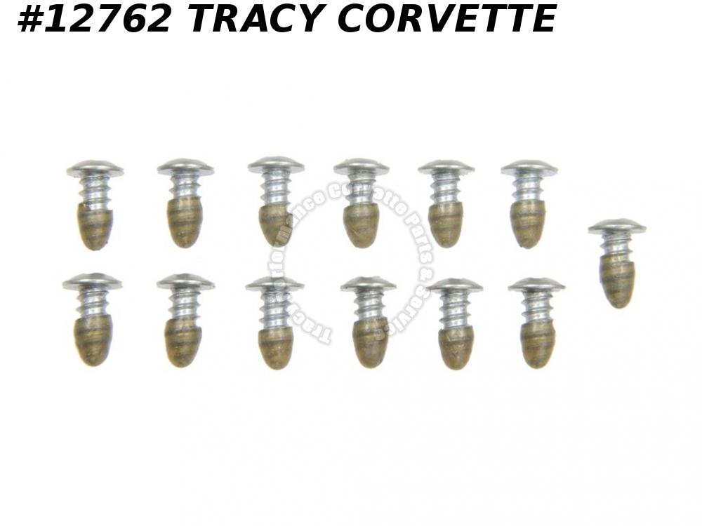 1964-1982 Corvette GM# 4825964 Windshield Moulding Clip Screw Set - 13 Pieces