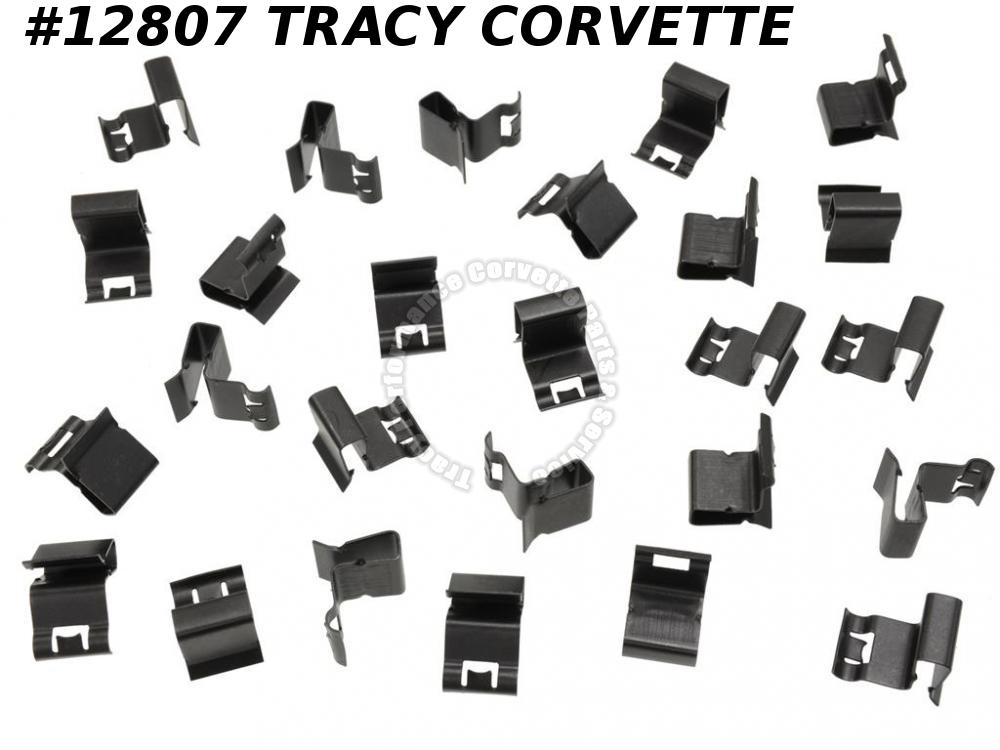 1963 Corvette Coupe Rear Split Window Molding Clip Set