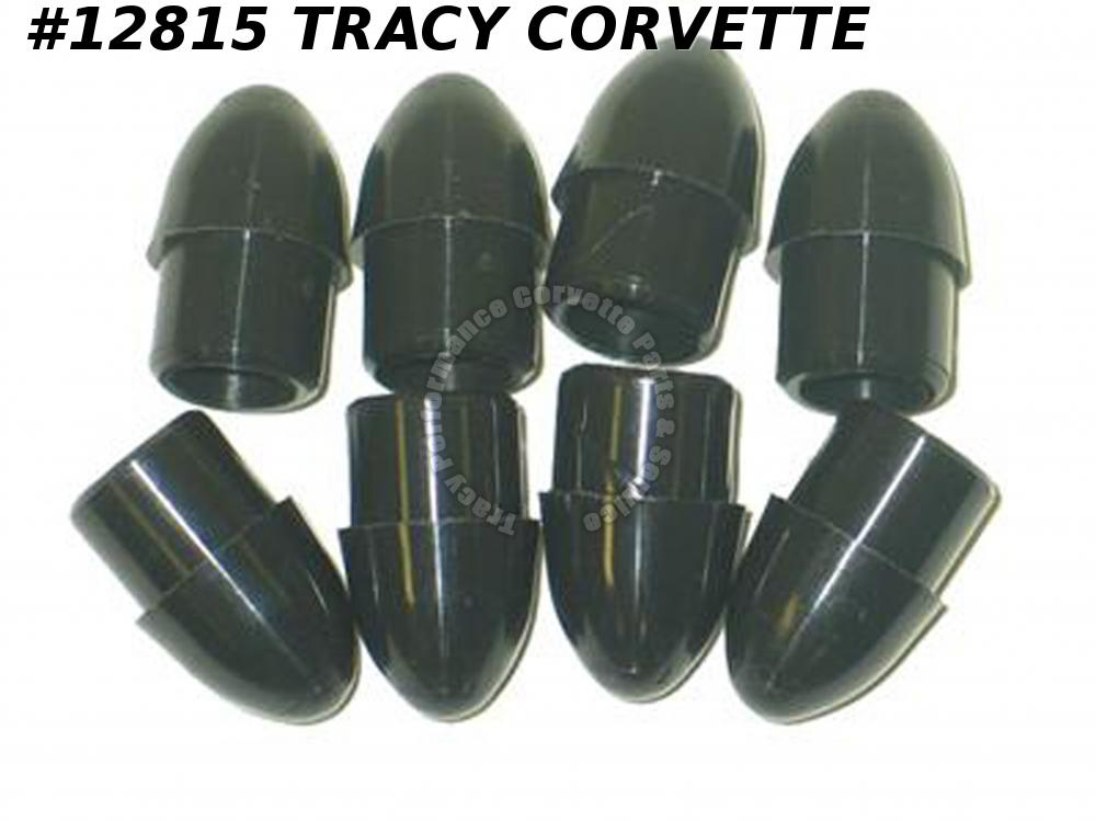 1963-1977 Corvette Luggage Rack - Black End Tips Set Of 8