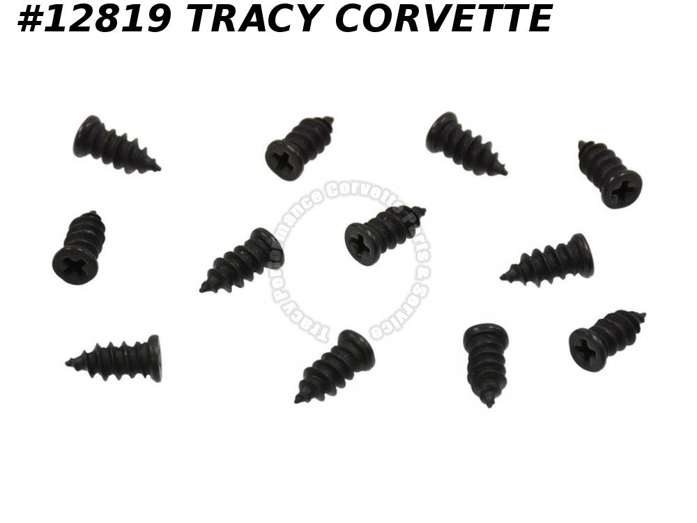 1963-1967 Corvette 342068 Window Seal Molding Screw Coupe Convertible Outer 12pc
