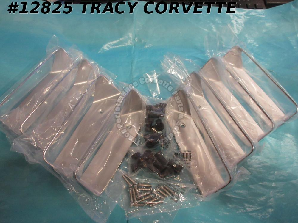 1968-1969 Corvette Fender Louvers Rh/LH - Set Of 8 3945247 w/ all fasteners