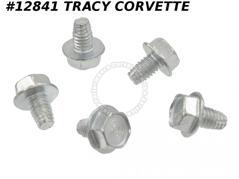 1969-1982 Corvette GM# 3958062 Brake Fuel Line Clip Bolt Set - 5 pieces