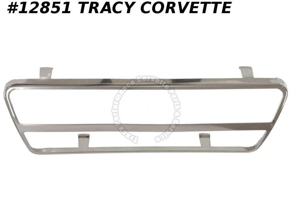 1968-1979 Corvette Brake Pedal Pad Stainless Trim - Automatic