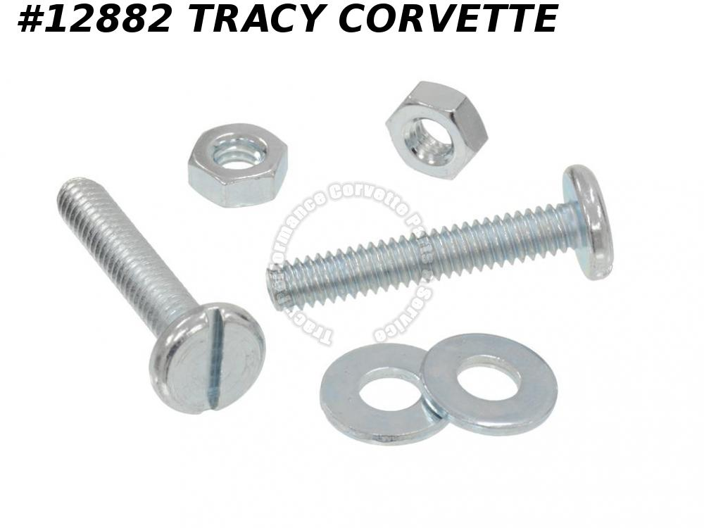 1963-1976 Corvette 3797058 Hood Bumper Adjustment Screw With Nuts And Washer