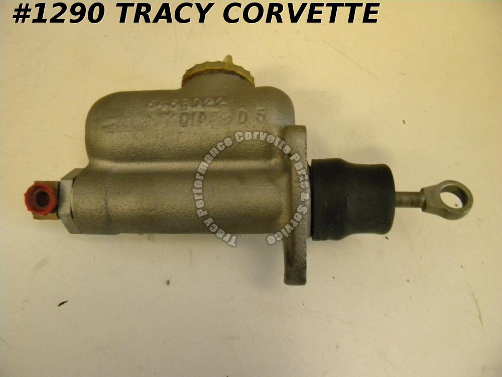 1957-1958 Corvette Brake Master Cylinder w/ Cap GM# 5456022 (Small 22) Original
