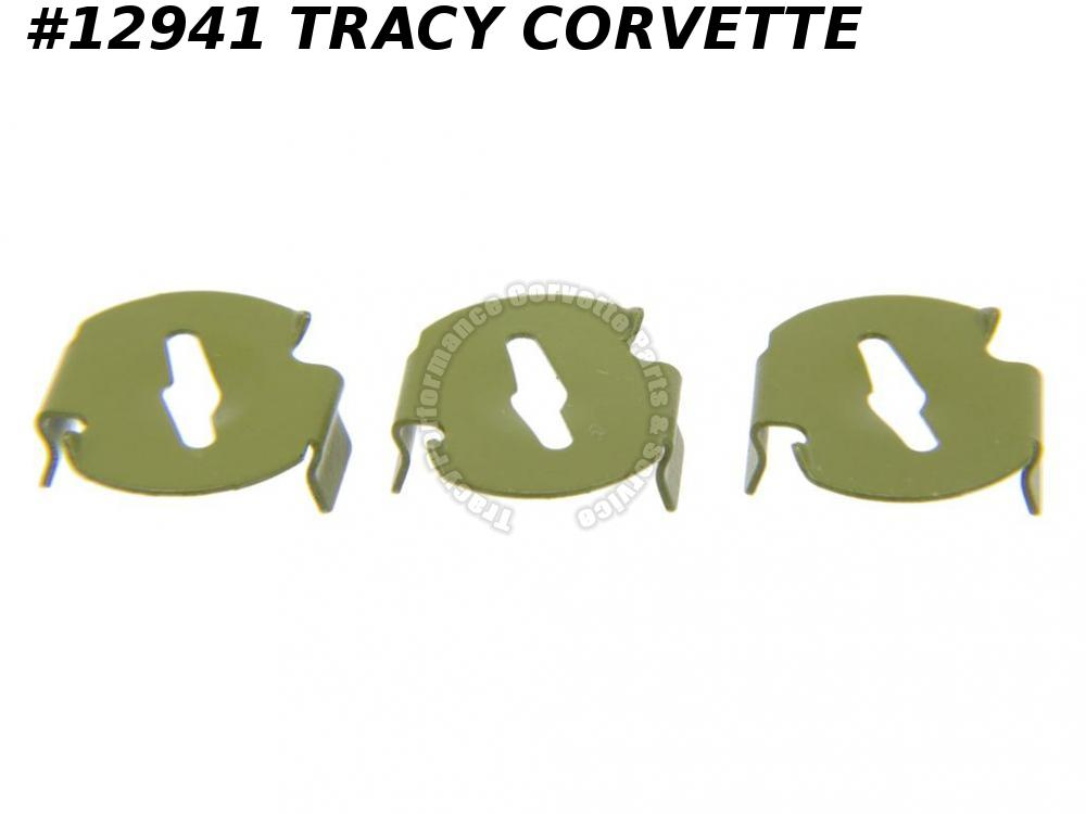 1956-1964 Corvette Exterior Trim And Emblem Speednut Kit (3 Pieces)
