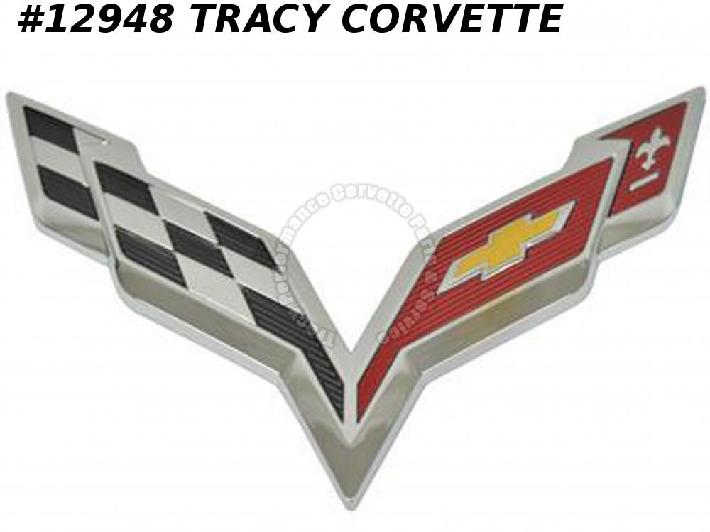 2014-2019 Corvette Front Nose Emblem Factory Chrome 2015 2016 2017 2018 23168616