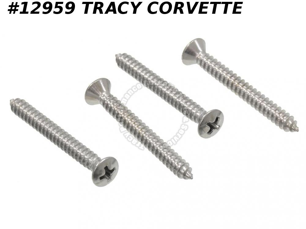 1968-1976 Corvette Sunvisor Support Screw 9418182 4 Pieces